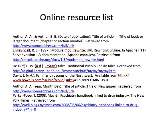 online resource bad example