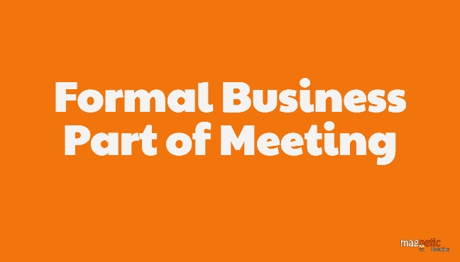 Business Discussion of Kick-off meeting