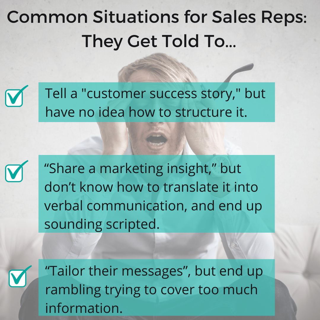 These skills help the sales rep with their communication skills