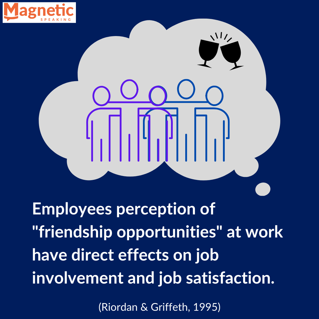 Employees perception of friendship opportunities
